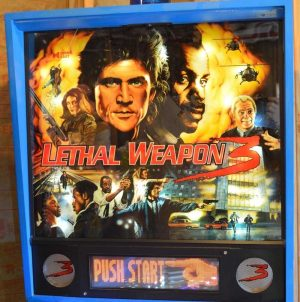 Lethal Weapon 3 Pinball Machine Backglass