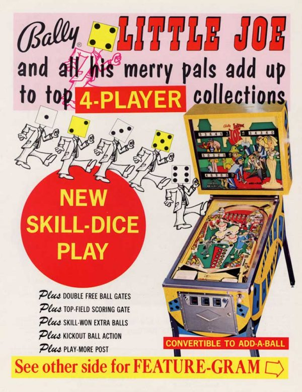 Little Joe Pinball Machine by Bally Flyer