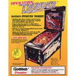 Operation Thunder Pinball Flyer