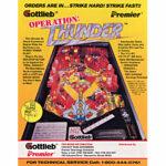 Operation Thunder Pinball Flyer 2