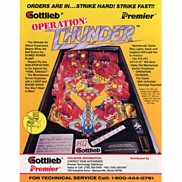 Operation Thunder Pinball