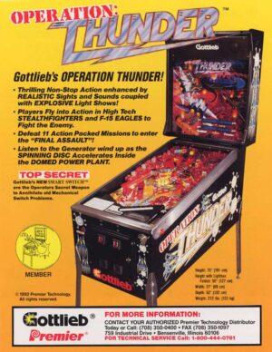 Operation: Thunder Pinball Machine by Gottlieb