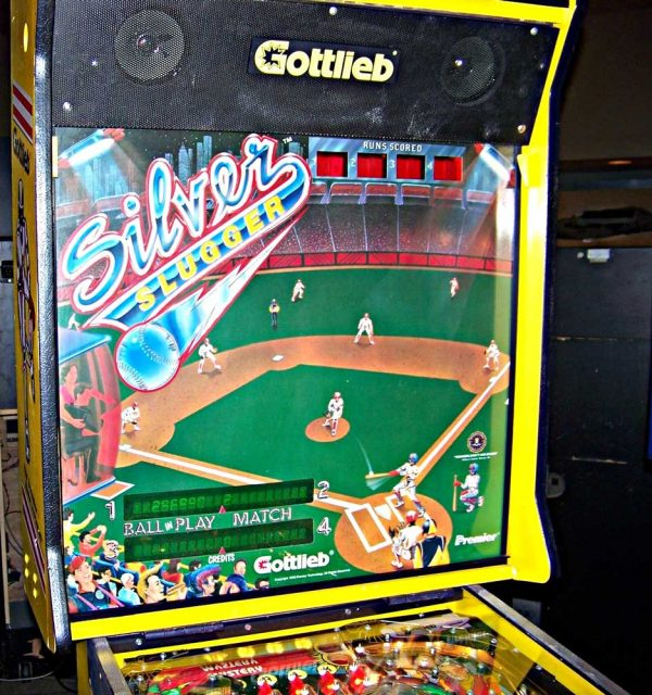 Silver Slugger Pinball Machine backglass