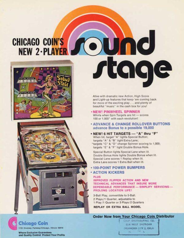 Sound Stage Pinball Flyer 11 600x774 - Sound Stage Pinball Machine