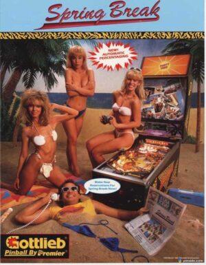 Spring Break Pinball Machine Flyer