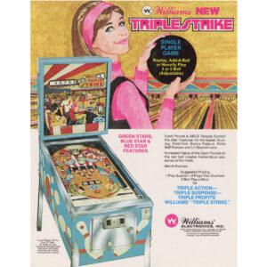 Triple Strike Pinball Machine Flyer