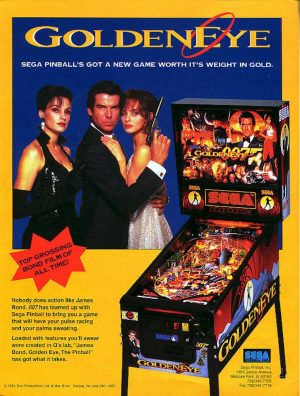 007 Goldeneye Pinball Machine Flyer