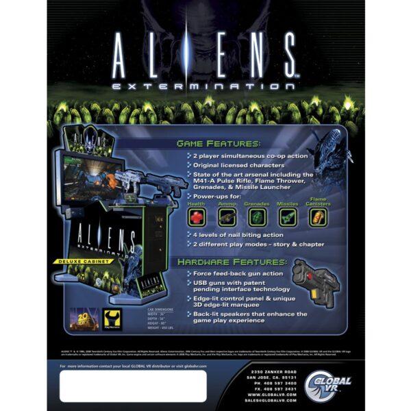 Aliens Extermination Arcade Flyer 2 600x600 - Aliens Extermination Arcade