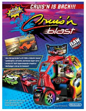 Cruis'n Blast Arcade Flyer