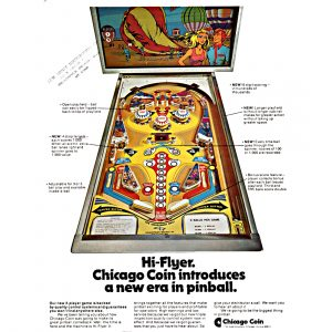 Hi-Flyer Pinball Machine Flyer