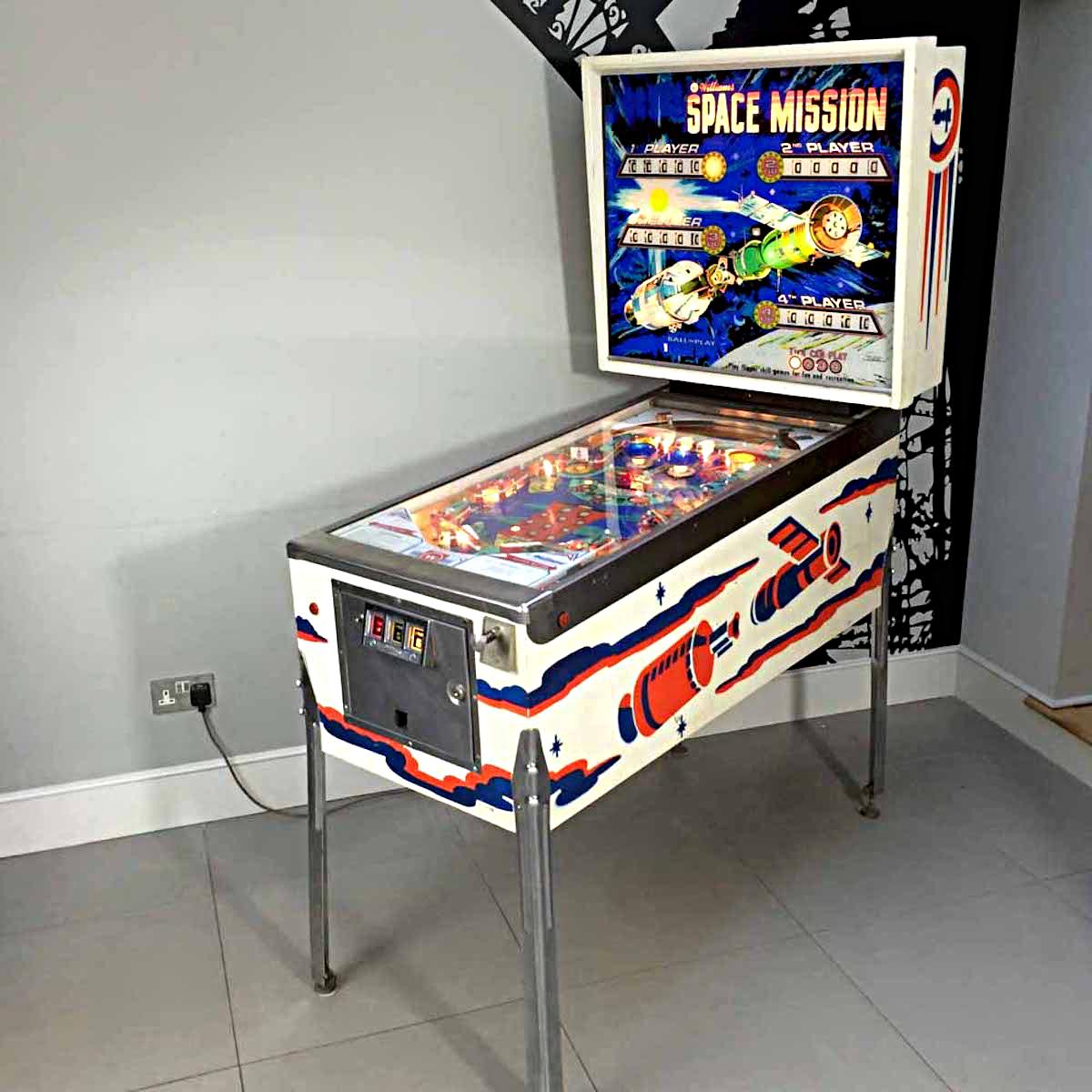 Arcade Game Room: Space Mission Pinball Machine