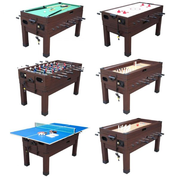 13 in 1 Combination Game Table Espresso