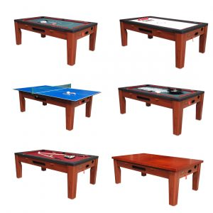 6 in 1 Multi Game Table Cherry