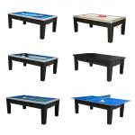 6 in 1 Multi Game Table Black Cover