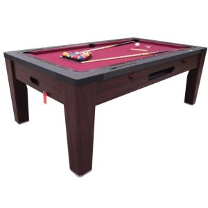6 in 1 Multi Game Table Walnut