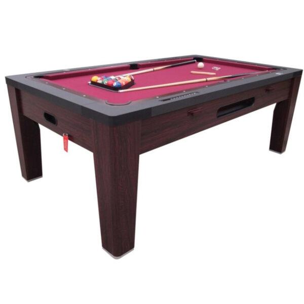 6 in 1 Multi Game Table Walnut 1