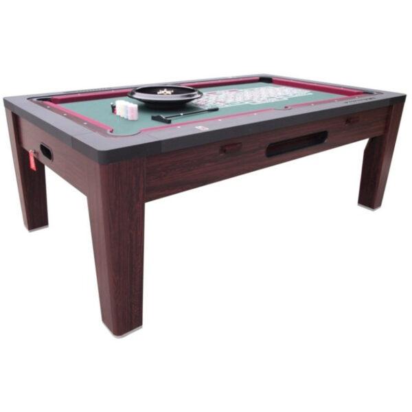 6 in 1 Multi Game Table Walnut 5