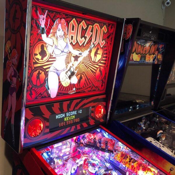 AC-DC Luci Pinball Machine Backglass