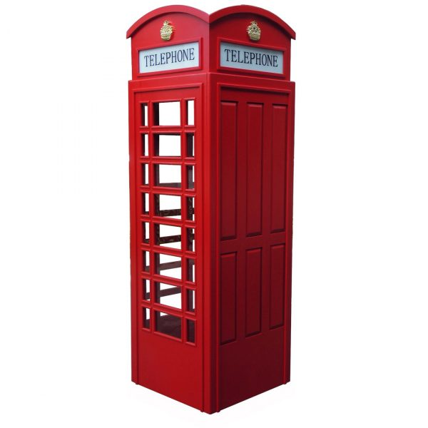 English Style Replica Telephone Booth 3 600x600 - English Style Replica Telephone Booth (Red)