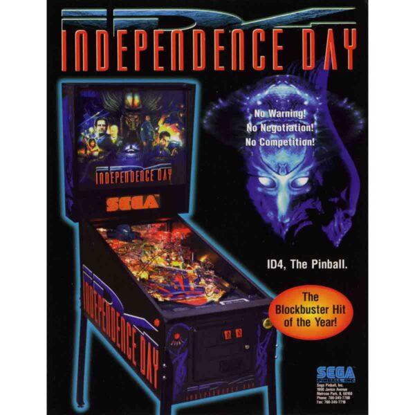 Independence Day Pinball Machine Flyer