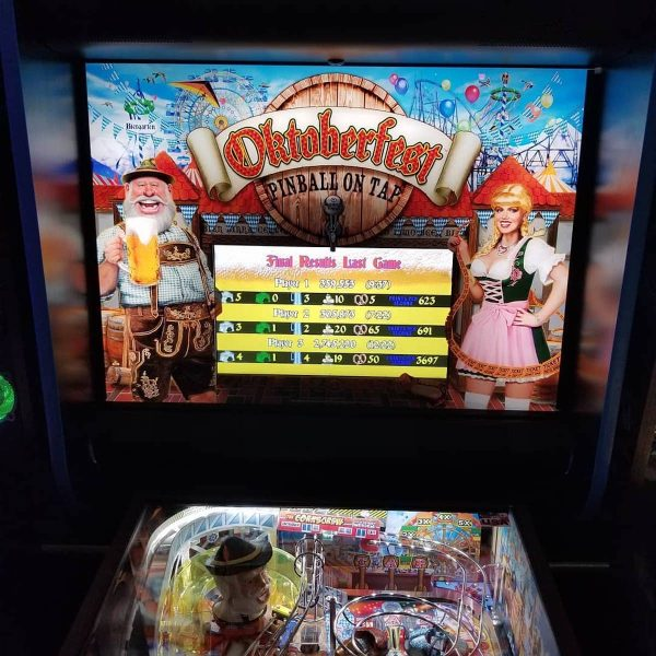Oktoberfest Pinball Machine Backglass