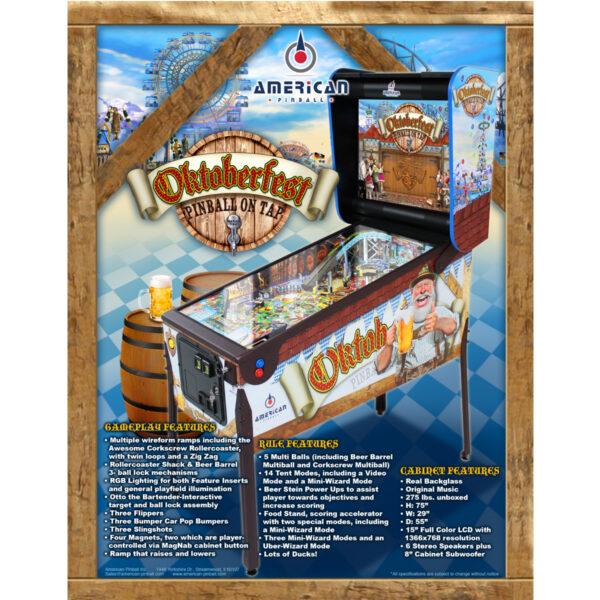 Oktoberfest Pinball Machine Flyer