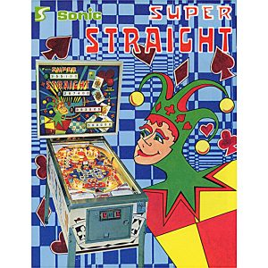Super Straight Pinball Machine Flyer