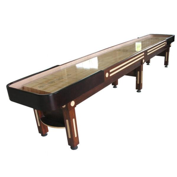 The Majestic Shuffleboard Table Walnut 16 Foot