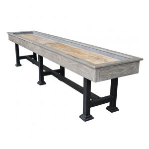The Urban Shuffleboard Table Silver Mist