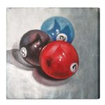 2, 7 & 8 Balls Oil Painting