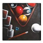 Ball in Rack Oil Painting