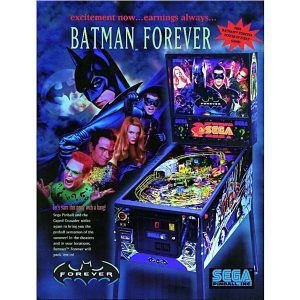 Batman Forever Pinball Flyer