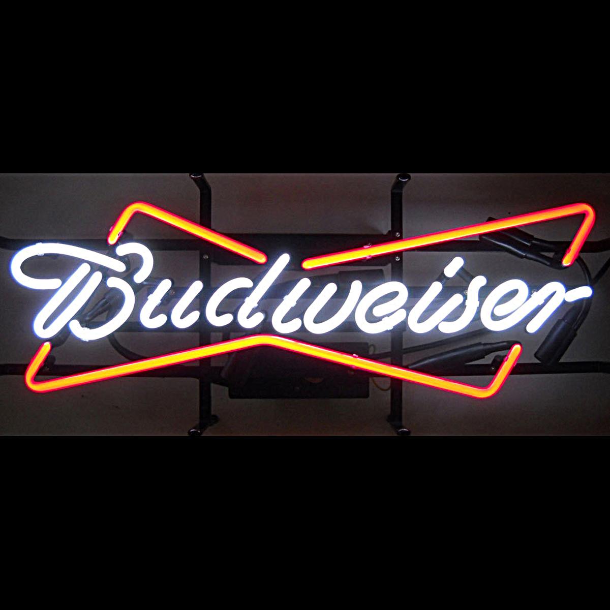 Budweiser Neon Sign   Elite Home Gamerooms   Game Room Art