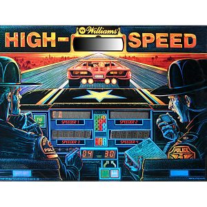 High Speed Pinball Backglass
