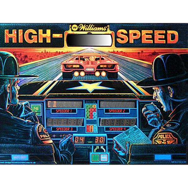 High Speed Pinball Backglass