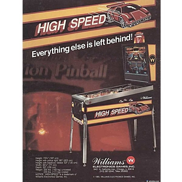 High Speed Pinball Flyer