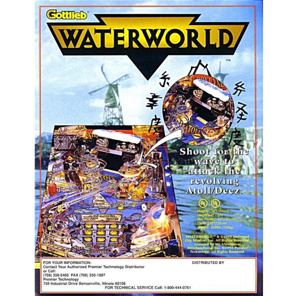 Waterworld Pinball Machine Flyer