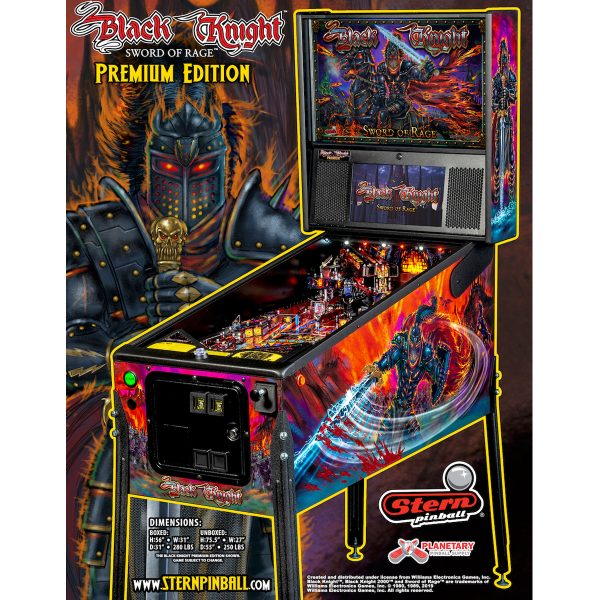 Black Knight Premium Pinball Flyer