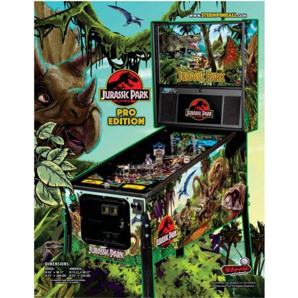Jurassic Park Pro Pinball Flyer 1 600x600 - Jurassic Park Pro Pinball Machine