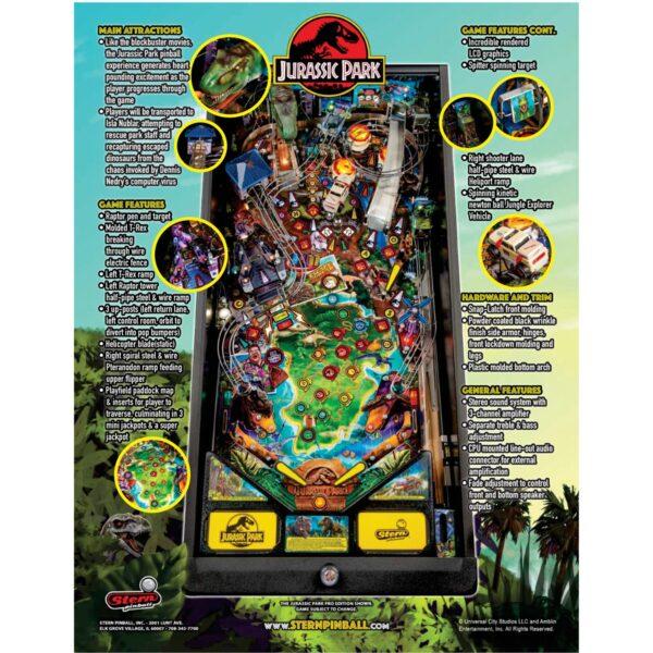 Jurassic Park Pro Pinball Flyer