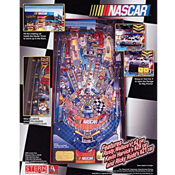 Nascar Pinball Machine Flyer 2