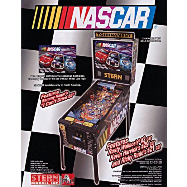 Nascar Pinball Machine Flyer