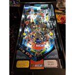 Nascar Pinball Machine Playfield Illuminated