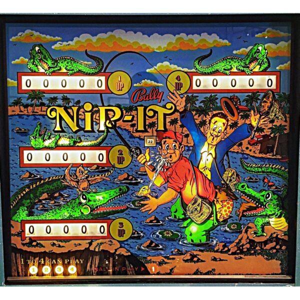 Nip It Pinball Machine Backglass
