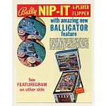 Nip It Pinball Machine by Bally Flyer