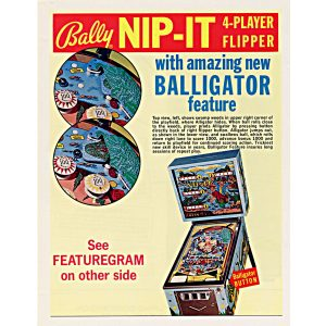 Nip It Pinball Machine by Bally Flyer