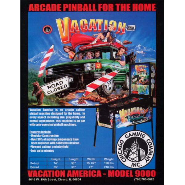 Vacation America Pinball Flyer