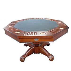 "3 in 1 Multi Table - Octagon 48"" Antique Walnut 2"