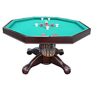 "3 in 1 Multi Table - Octagon 48"" Mahogany 1"