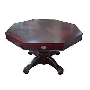"3 in 1 Multi Table - Octagon 48"" Mahogany 2"